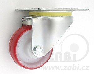 Plastové kolo 80 mm otočná vidlice s deskou