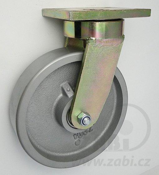 Litinové kolo 200 mm otočná vidlice s deskou