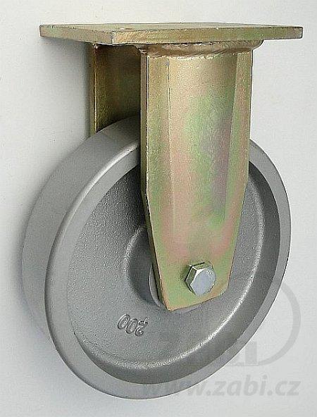 Litinové kolo 200 mm pevná vidlice s deskou