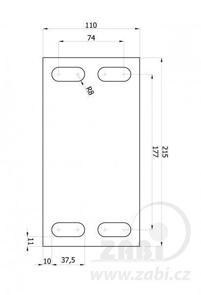 Nosný vozík pro posuvnou bránu 70 mm