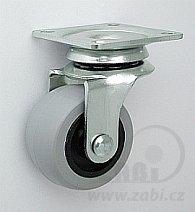 Nábytkové kolo 40 mm otočná vidlice s deskou