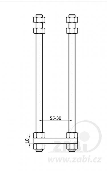 Kotevní patka pro vozík 50 mm