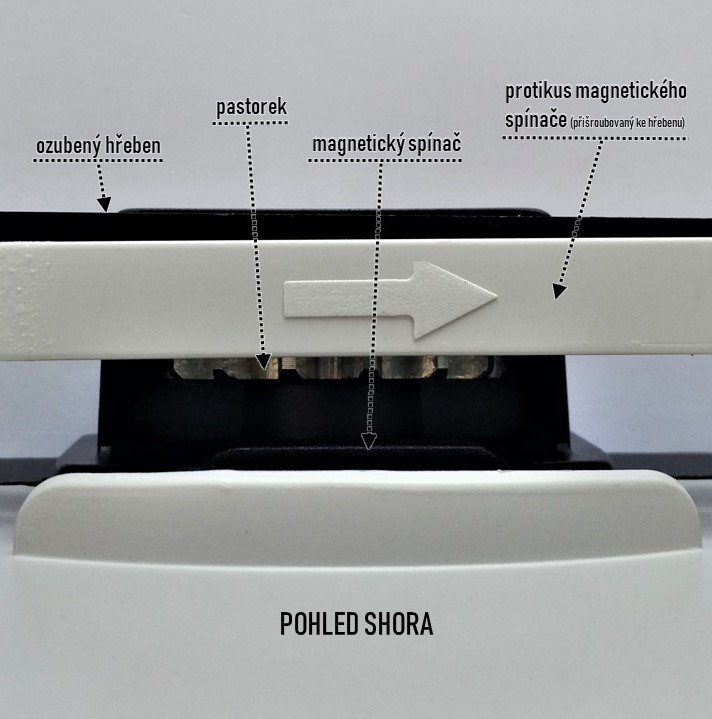 Rychlý pohon posuvné brány do 400 kg s magnetickým spínačem