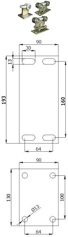 Nosný vozík 60 mm
