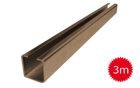 Nosný C profil pro posuvnou bránu 20mm délka 3 metry