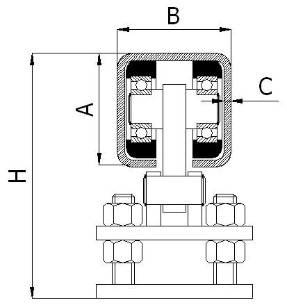 Nosný vozík pro posuvnou bránu 50 mm