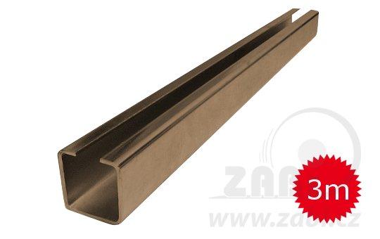 Nosný C profil pro posuvnou bránu 70mm délka 3 metry
