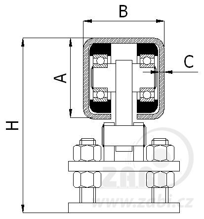 Nosný vozík 80 mm
