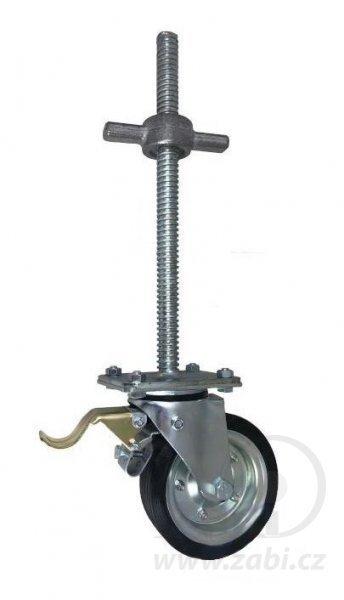 Pojezdové kolo pro lešení 160 mm s výškovou regulací