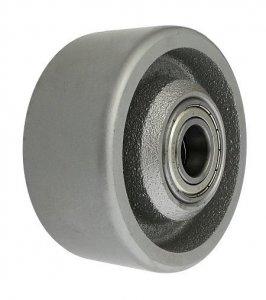Litinové kolo 100 mm samostatné s ložiskem