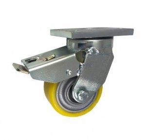 Polyuretanové kolo 100 mm otočná vidlice s brzdou