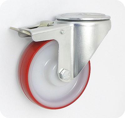 Plastové kolo 125 mm otočná vidlice s otvorem