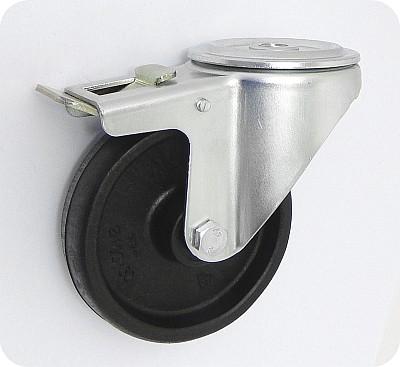 Teploodolné kolo 100 mm otočná vidlice s otvorem