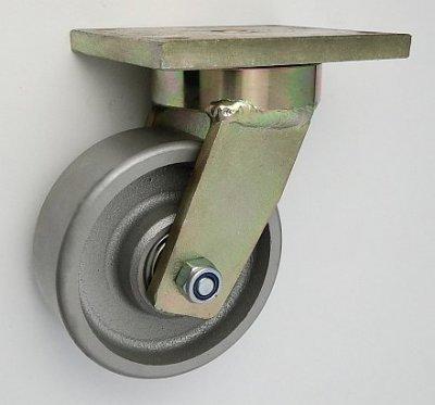 Litinové kolo 125 mm otočná vidlice s deskou