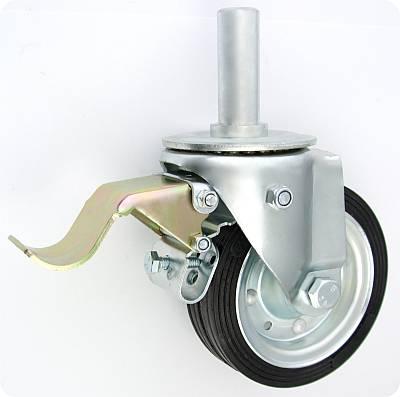 Pryžové kolo 140 mm otočná vidlice s čepem