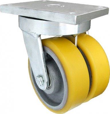 Polyuretanové kolo zdvojené 125 mm