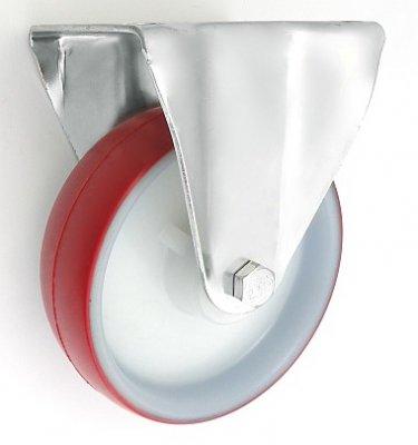 Plastové kolo 160 mm pevná vidlice s deskou