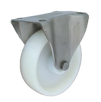 Polyamidové kolo 100 mm pevná vidlice nerez