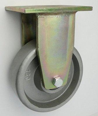 Litinové kolo 160 mm pevná vidlice s deskou