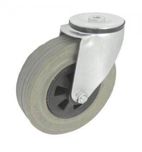 Pryžové kolo 180 mm otočná vidlice s otvorem