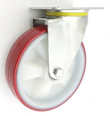 Plastové kolo 200 mm otočná vidlice s deskou