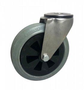 Pryžové kolo 200 mm otočná vidlice s ložiskem - NEREZ