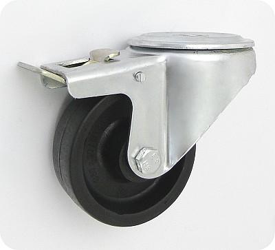 Teploodolné kolo 80 mm otočná vidlice s otvorem