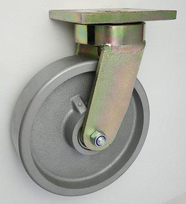 Litinové kolo 250 mm otočná vidlice s deskou