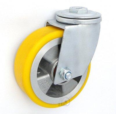 Polyuretanové kolo 125 mm otočná vidlice