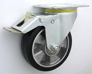 Pryžové kolo 250 mm otočná vidlice s deskou