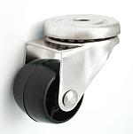 Nábytkové kolo 30 mm otočná vidlice s otvorem