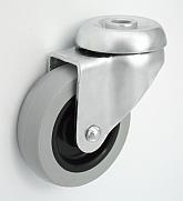 Nábytkové kolo 60 mm otočná vidlice s otvorem