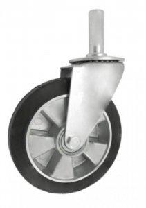 Pryžové kolo 160 mm otočná vidlice s čepem
