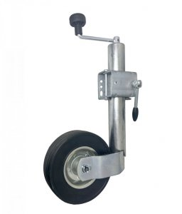 Opěrné kolečko k přívěsu, přívěsnému vozíku