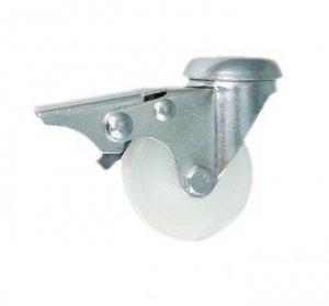 Nábytkové kolo 50 mm otočná vidlice s otvorem a brzdou
