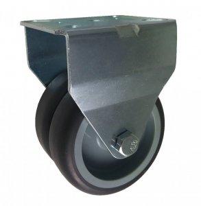 Plastové dvojité kolečko v pevné vidlici