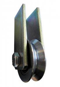 Kladka kovová 117 mm s ložiskem a úchytem