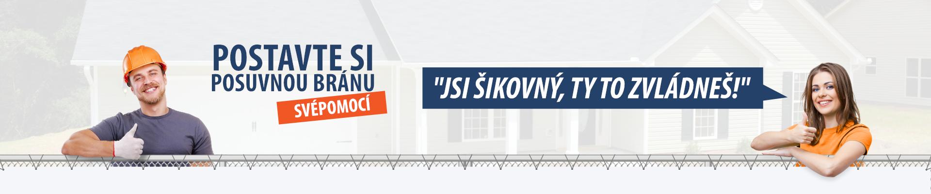 Banner - Posuvná brána SVÉPOMOCI