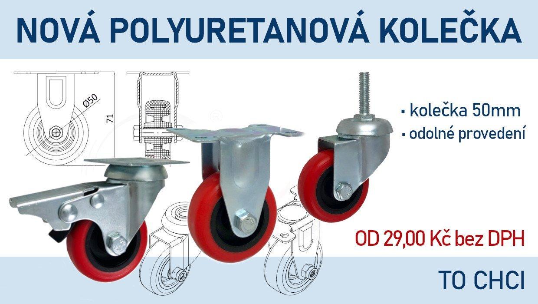 Banner - Polyuretanová kolečka 50 mm