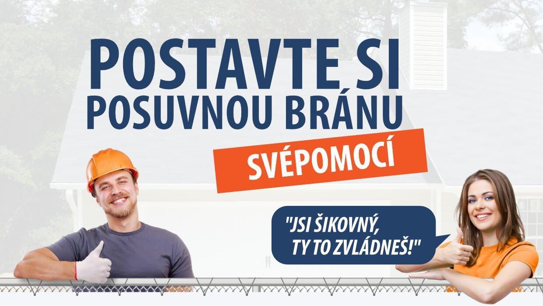 Banner - Posuvná brána SVÉPOMOCÍ